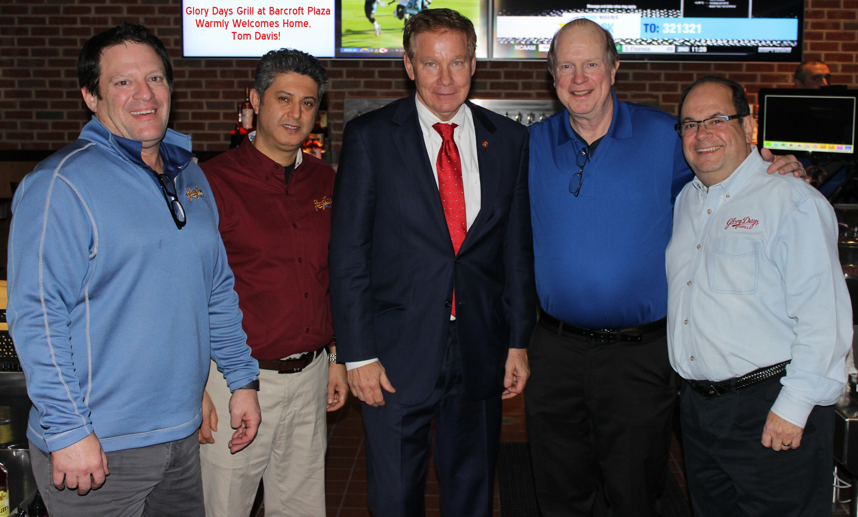 Glory-Days-Grill-at-Barcroft-Plaza-L-to-R-Lonnie-Lazear-Wali-Ghause-First-Guest-former-Congressman-Tom-Davis-VA-11-Pat-Malone-Gary-Cohen.png
