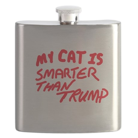 my_cat_is_smarter_than_trump_flask.jpg